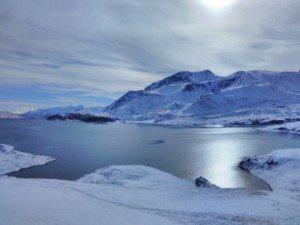 vue merveilleuse du lac du Mont Cenis